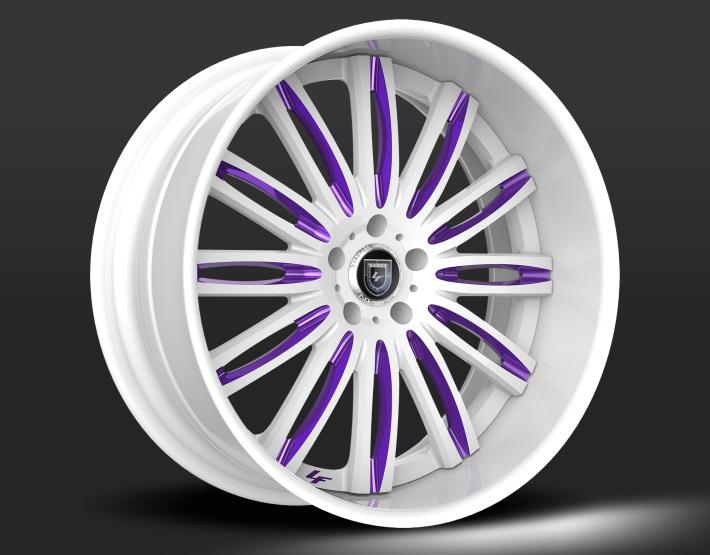 Custom - White and Purple Finish.