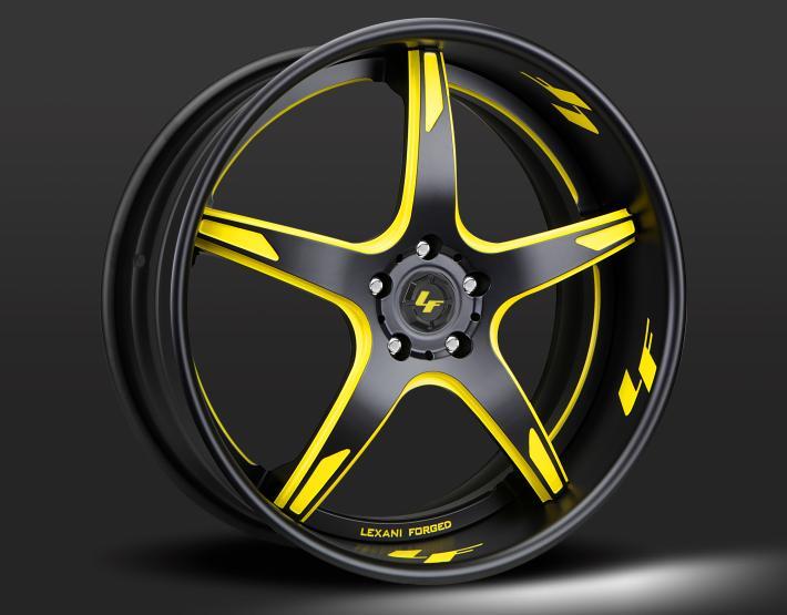 Custom - yellow and flat black finish.