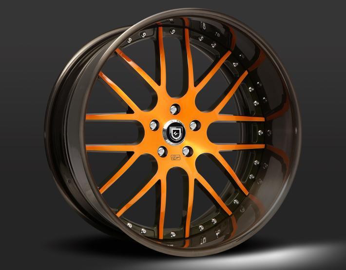 Custom - brown tint and orange finish.