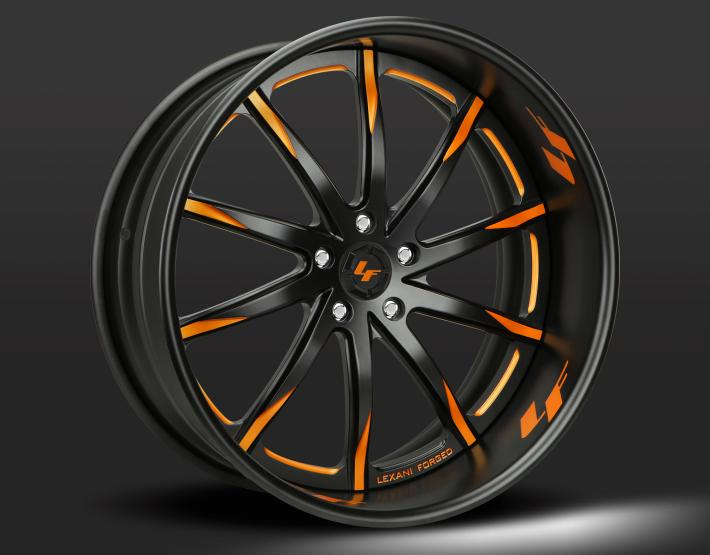 Custom - black and orange finish..