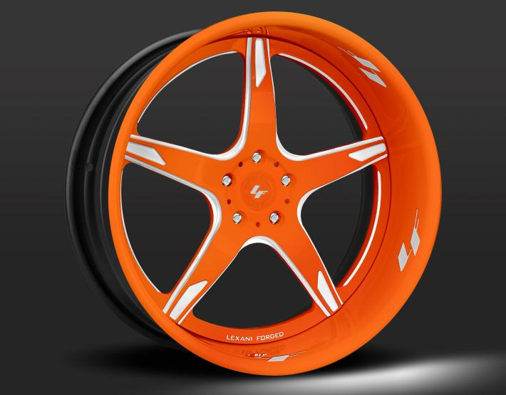 Custom - orange and white finish.