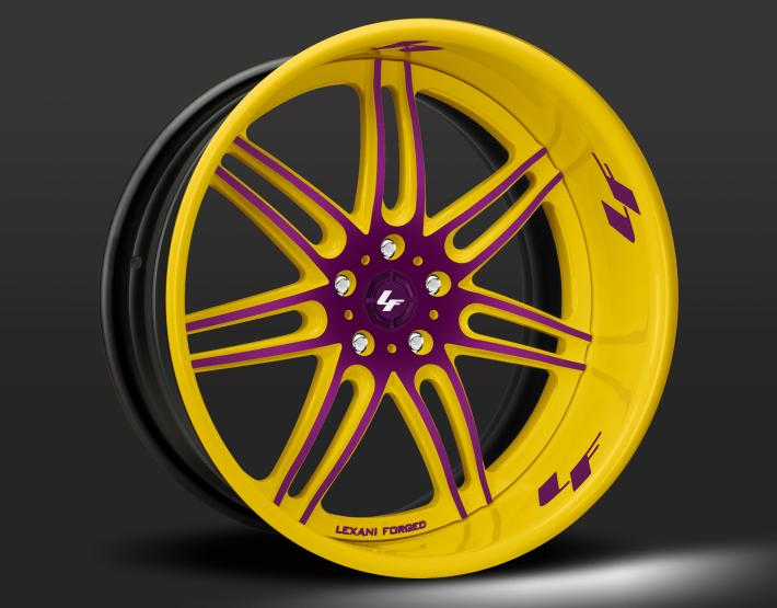 Custom - yellow and purple finish.