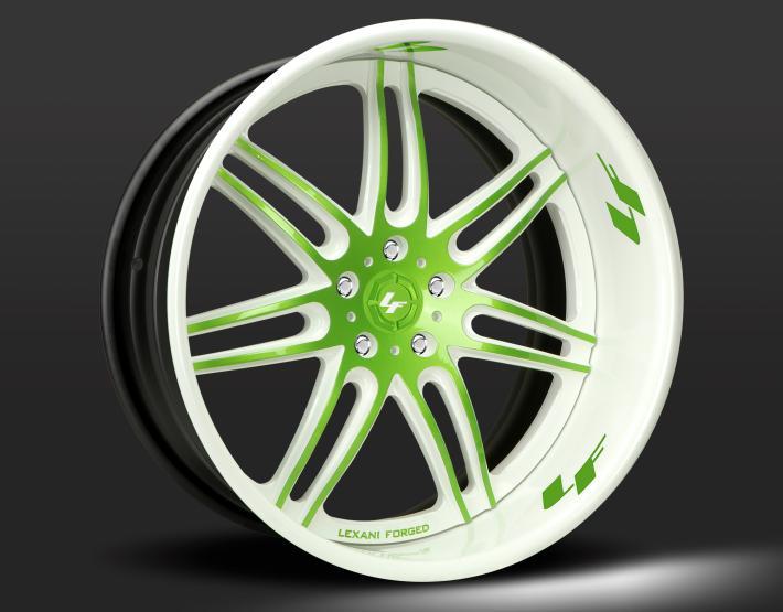 Custom - green and white finish.