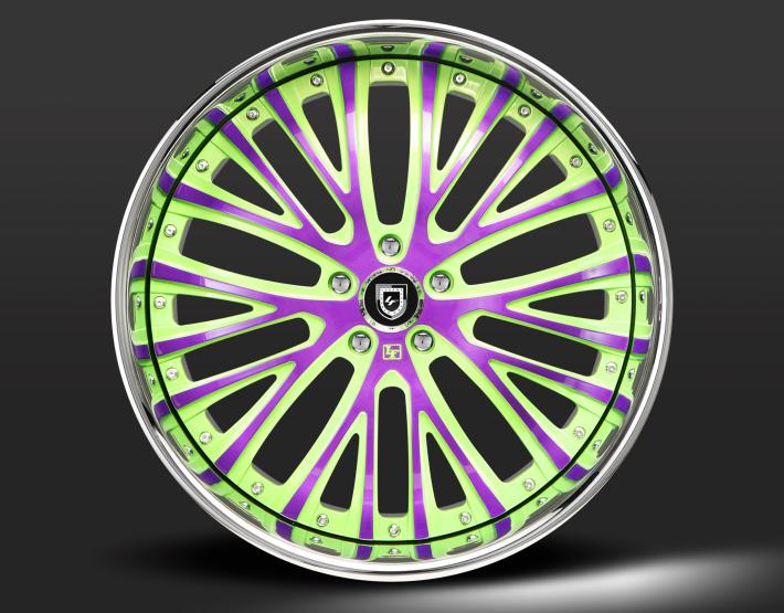 Custom - green and purple finish.
