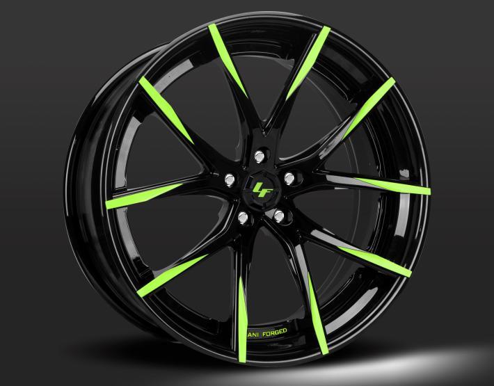 Custom - black and green finish.
