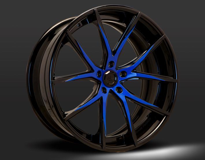 Custom - Blue and Black Finish
