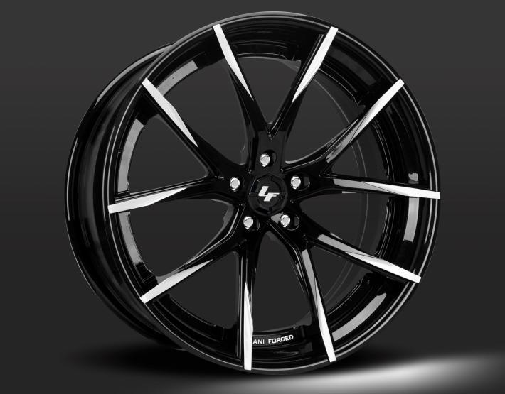 Custom - Gloss Black/Machined Tips.