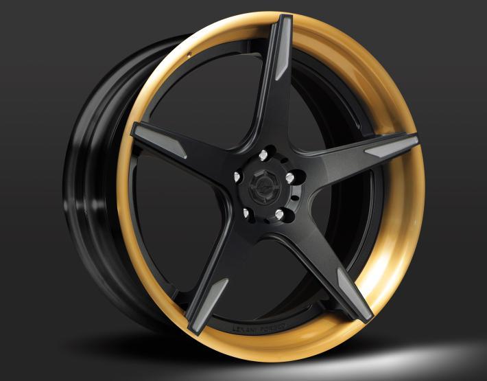 Custom - tinted Gold and black finish.