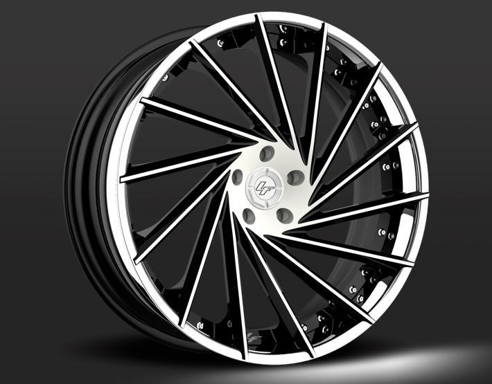 Custom - Black and white finish.