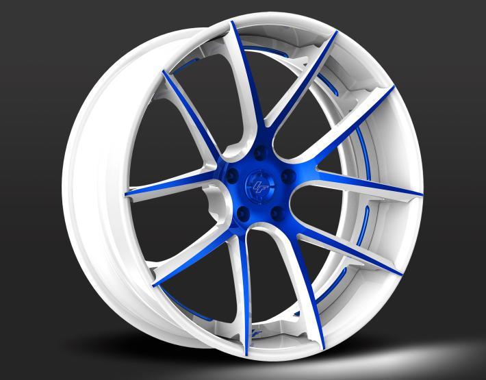 Custom - White and Blue Finish.