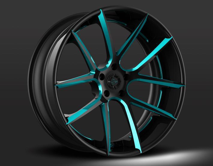 Custom - Black and Blue Finish.