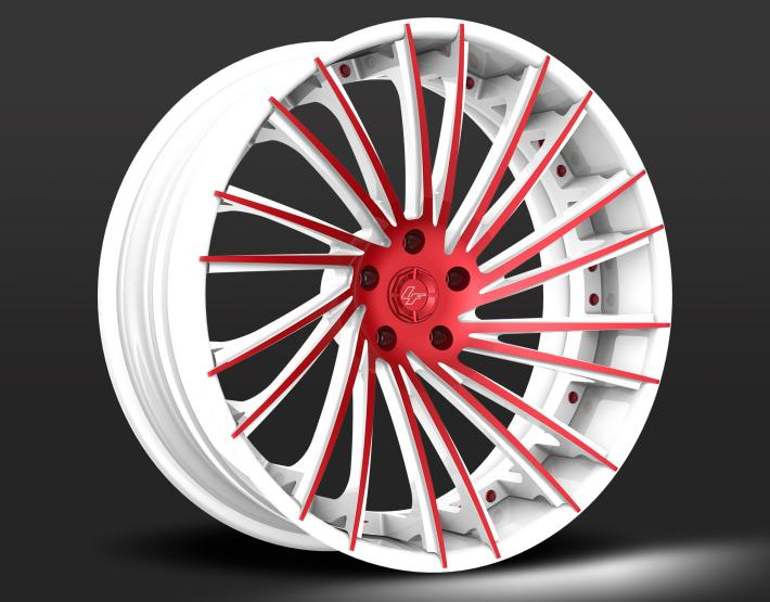 Custom - White and Red Finish.