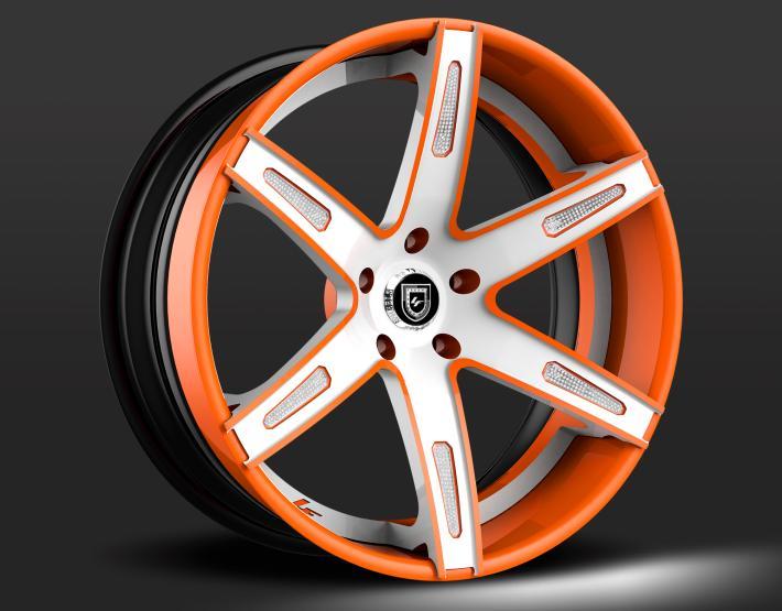 Custom - White and Orange finish, with optional inserts.