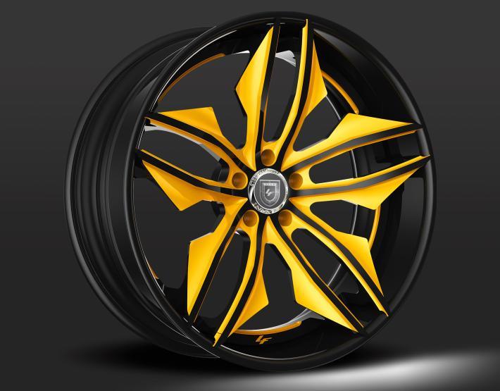 Custom Black and Yellow Finish.