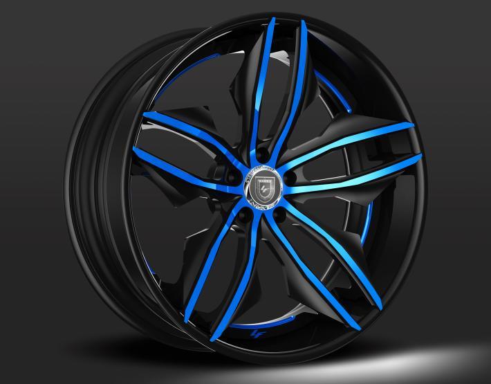 Custom Black and Blue Finish.