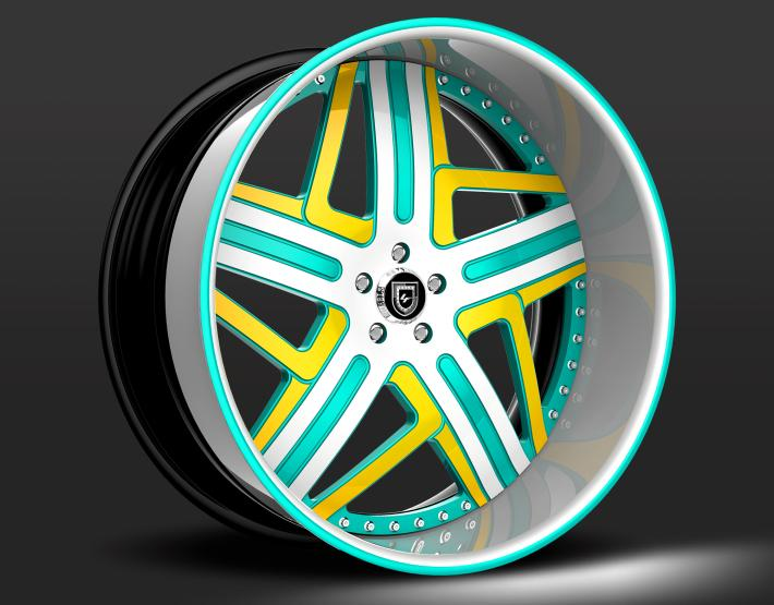 Custom - Yellow and Teal finish.