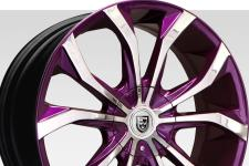 Lexani Lust with custom finish featuring: Optional chrome with purple accent.