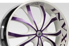 Lexani Lust with custom finish featuring: Custom - purple and white finish.