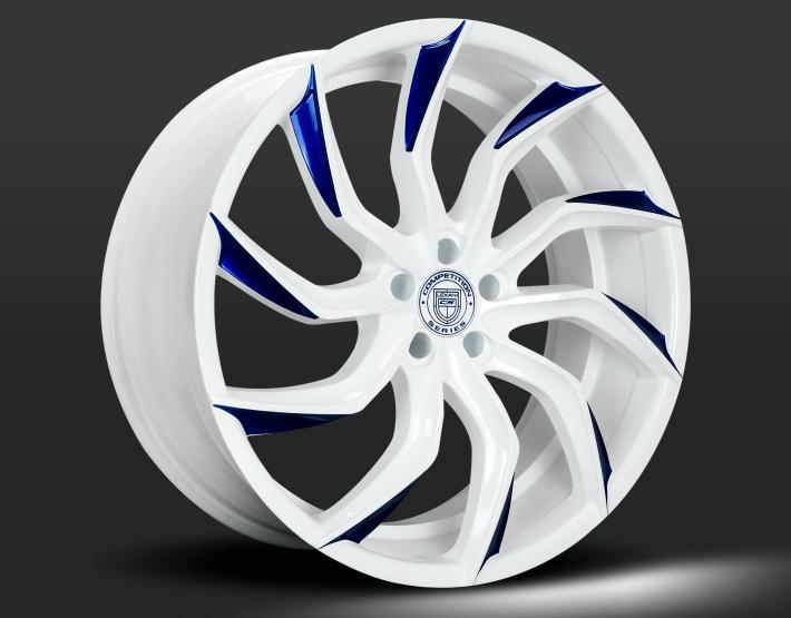 Custom - White with Blue Tips