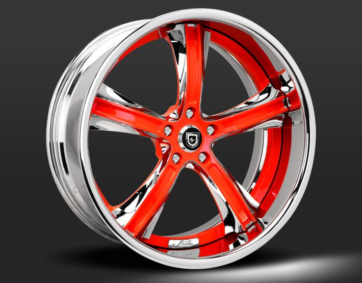 Custom - chrome and red finish.