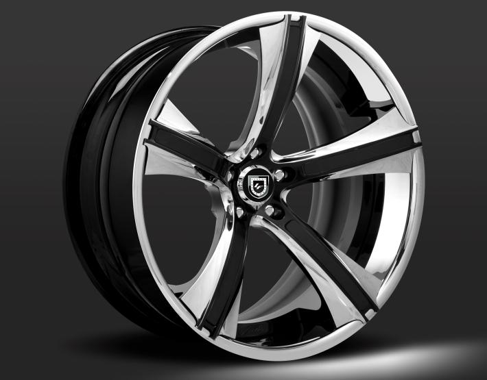 Custom - chrome and black finish.