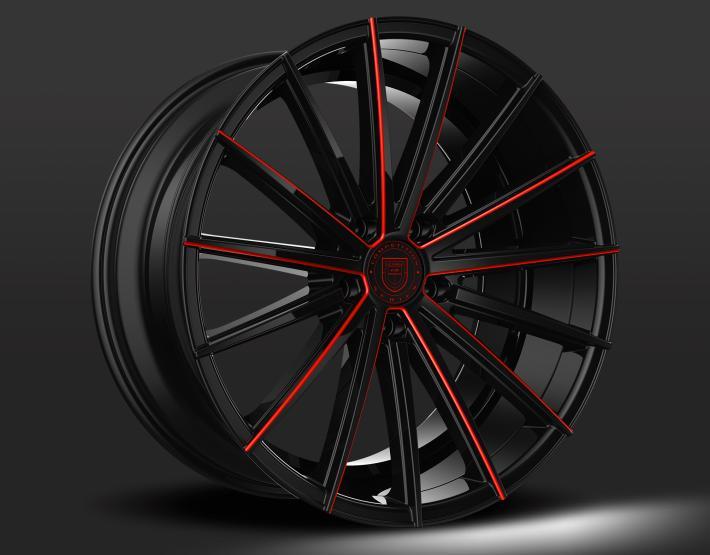 Custom - Black and Red Finish