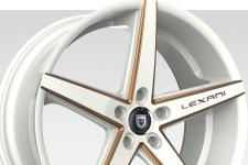 Lexani R-Four with custom finish featuring: Custom - White and Gold Finish