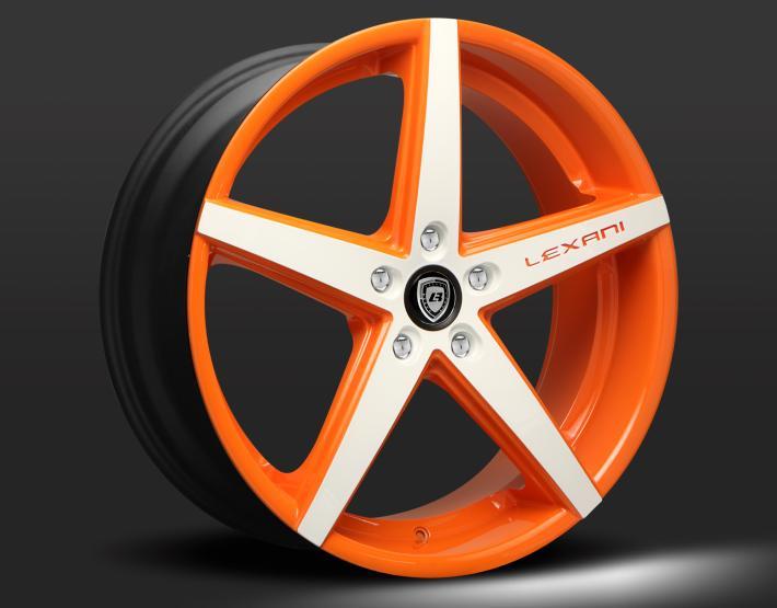 Custom - orange and white finish.