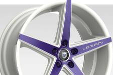 Lexani R-Four with custom finish featuring: Custom - Purple and White Finish