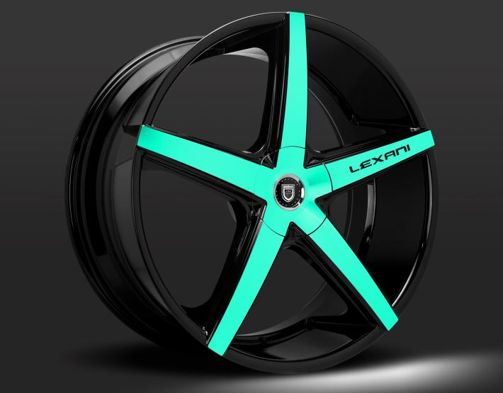 Custom - Teal and black finish.