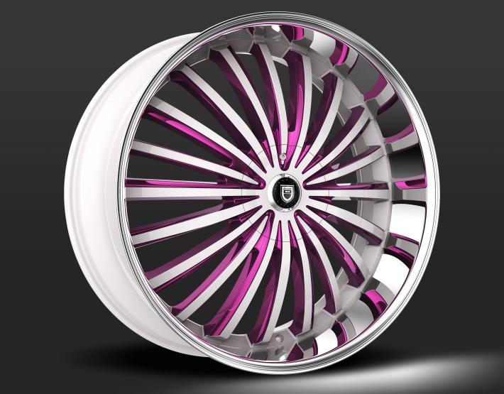 Custom - Chrome and Purple Finish