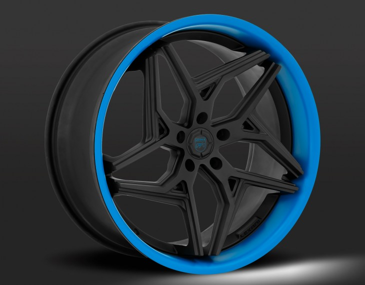 Flat black with blue