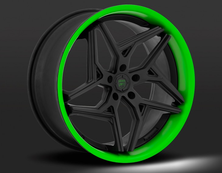 Flat black with green