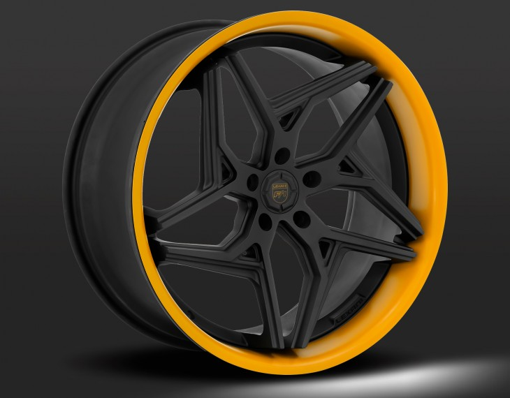 Flat black with orange