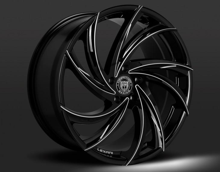 Gloss Black/CNC Grooves