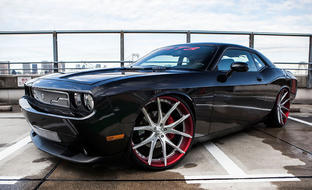 Dodge Challenger on brushed LZ-102 wheels.