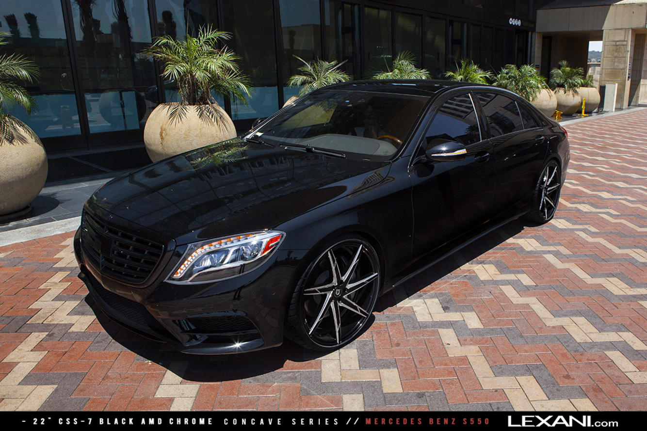 Mercedes S550 on 22