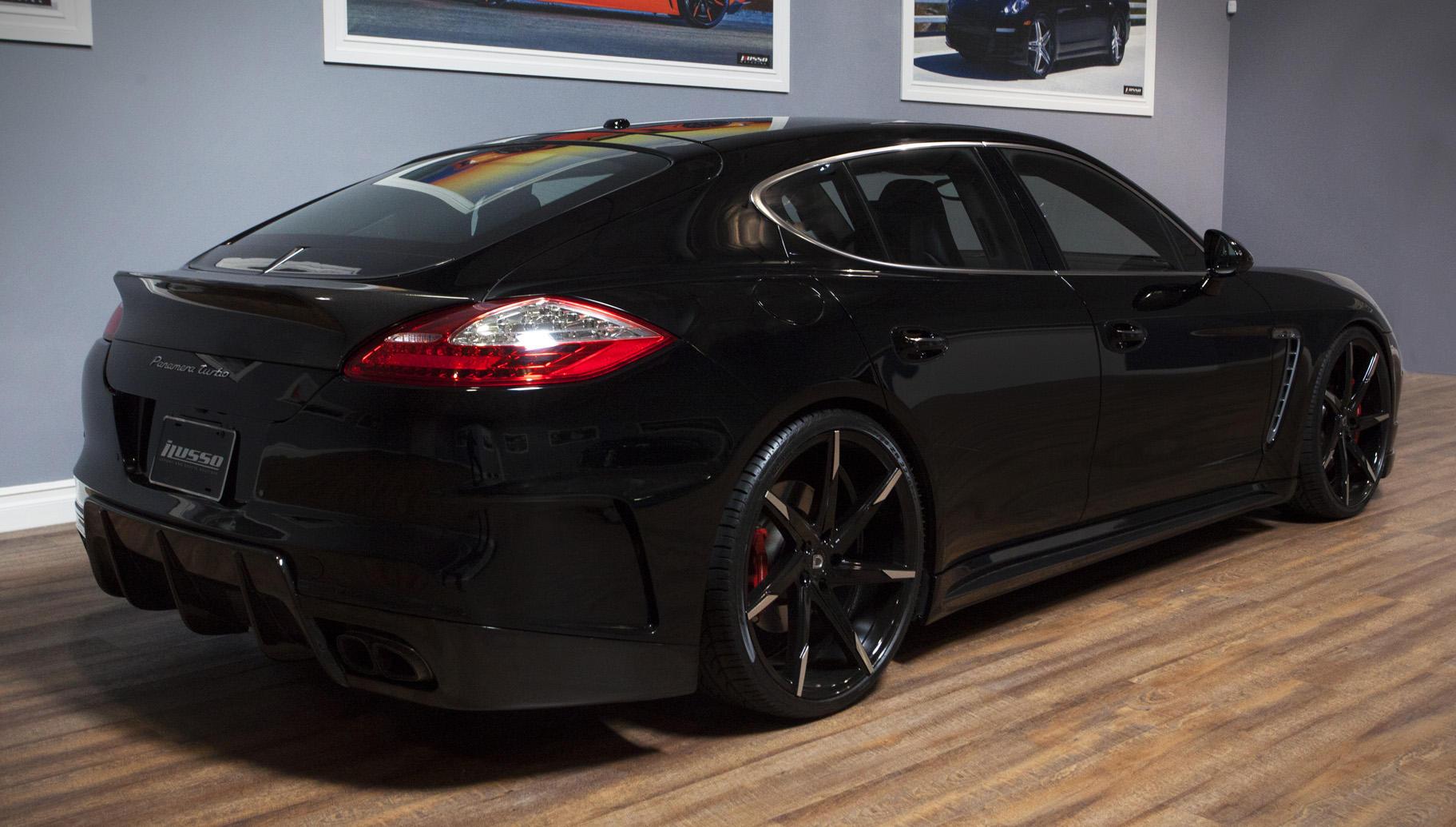 full black with machined tips - Porsche Panamera 2014 Black