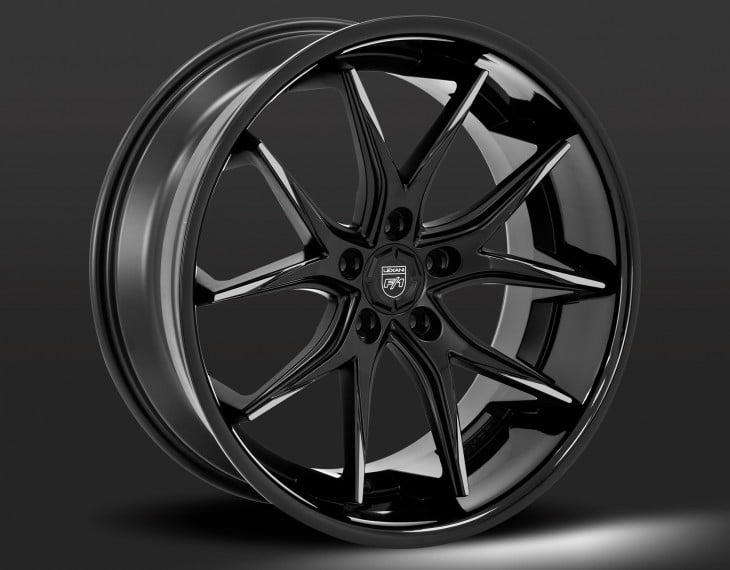 Custom - Gloss black with machined tips